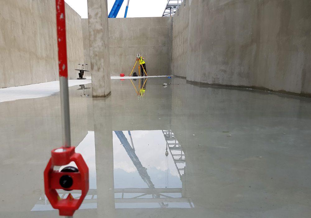 pomiar posadzki reaktor OW Zabrze