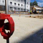 GEOTEC wykonuje pomiary geodezyjne podczas budowy SOR Zabrze