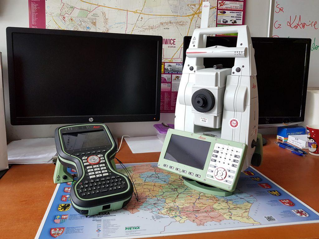 Sprzęt pomiarowy wykorzystywany podczas usług geodezyjnych na śląsku